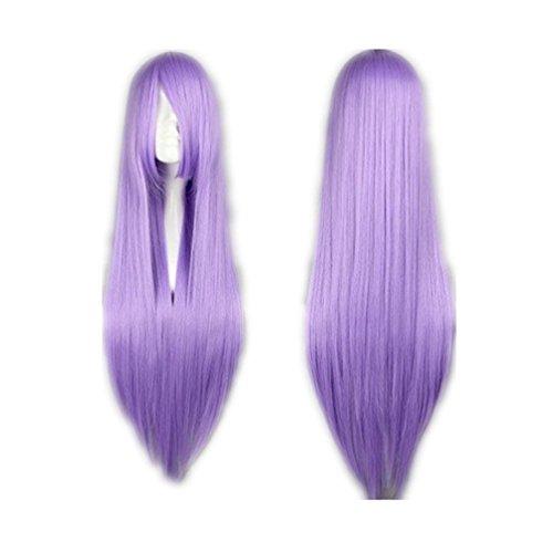 Prettymart Cosplay Wig Lang Gerade Anime Show Fasching Karneval Hair80cm Volett (Fasching Costume)