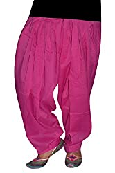 Bansal Collection Women's Patialas (Pink_Free Size)