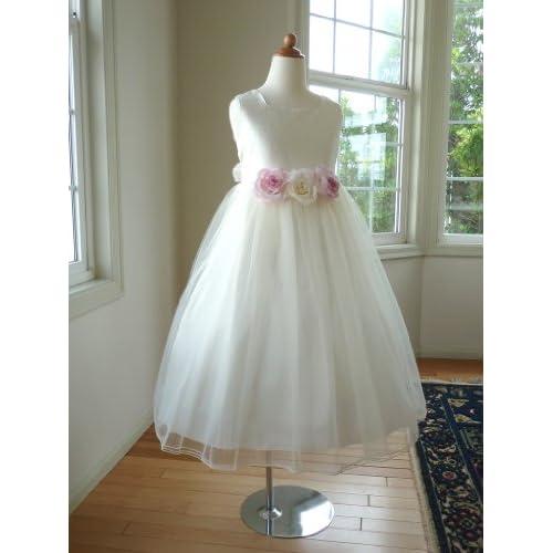 子供ドレス お薦めドレス、フラワーガールにぴったり、結婚式 出席ドレス、発表会 ドレス、ピアノ発表会 ドレス(ピアノ 発表会 衣装)にお薦め、清楚で可愛い子どもドレス (10歳(140cm), オフホワイト)