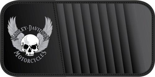 Harley Davison Skull w/ Wings Car Truck SUV DVD Cd Visor Organizer Holder