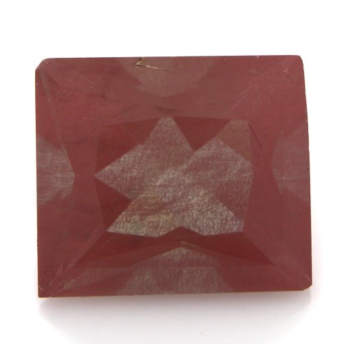 Natural Africa Red Andesine Loose Gemstone Baguette Cut 8*7mm 1.85cts SI Grade