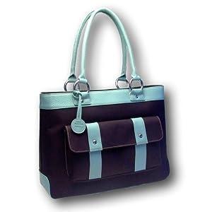 Susanne Maddux Blue Cosmo Tote / Designer Diaper Bag