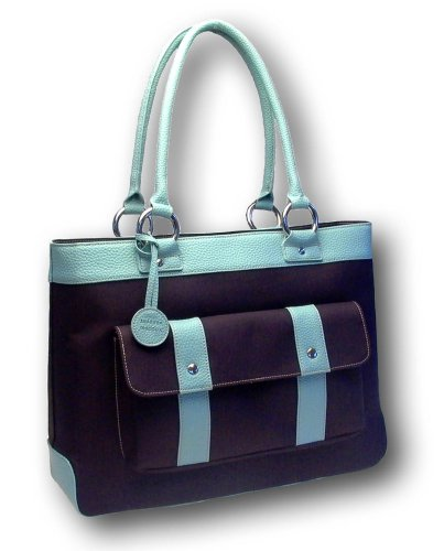 Susanne Maddux Blue Cosmo Tote / Designer Diaper Bag
