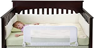 dexbaby Safe Sleeper Convertible Crib Bed Rail, White