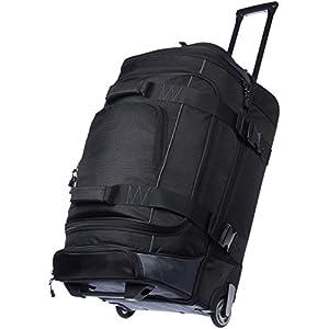 Amazonベーシック ボストンバッグ ダッフルバッグ キャスター付き 66cm ブラック