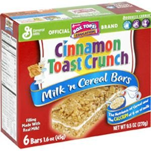 General Mills Cinnamon Toast Crunch Cereal Bar (Pack of 12)