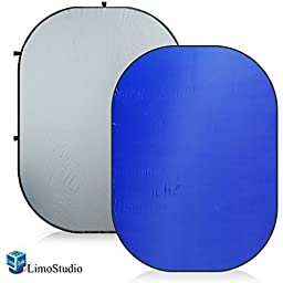 LimoStudio Photo Video Photography Studio 5\'x7\' Chromakey Blue/Gray Solid Color Reversible Pop Out Backdrop Background Lighting Panel, AGG1361