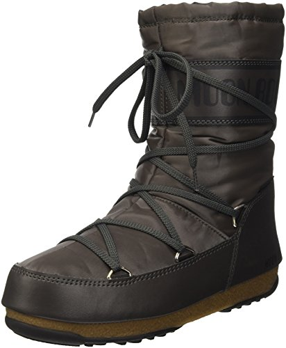 Moon Boot W.E. Soft Shade Mid, Scarpe Sportive Outdoor Donna, Grigio (Antracite), 42 EU