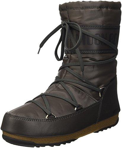 Moon Boot W.E. Soft Shade Mid, Scarpe Sportive Outdoor Donna, Grigio (Antracite), 42 EU