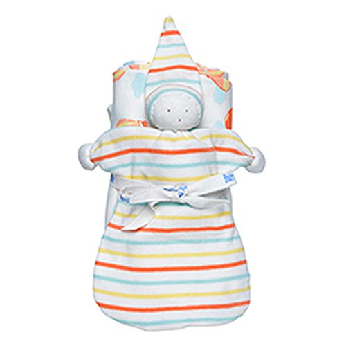 Under the Nile Stroller Blanket   Baby Buddy Toy Gift Set - Orange - 1