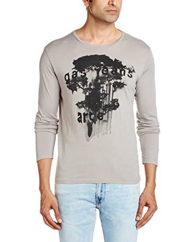 Gas Jeans Camiseta Manga Larga Gris