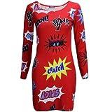 Be Jealous Womens Batman Tribal Aztec Print Celeb Bodycon Dress Tunic Top