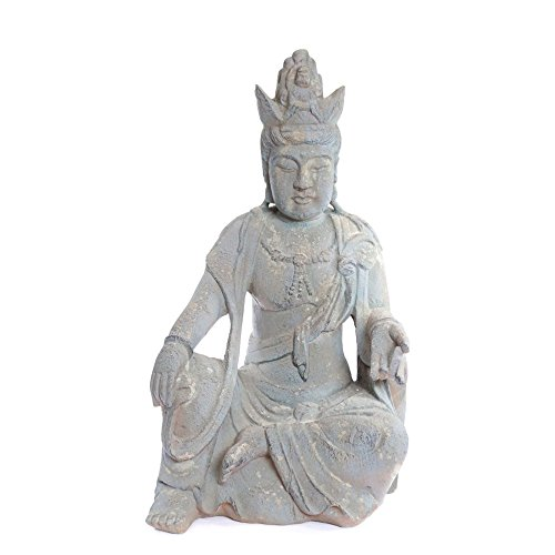 Alpine Corporation QFC134 Ancient Buddha Garden Statuary