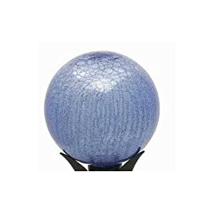"Achla- 10"" Gazing Globe Blue Lapis Crackle"