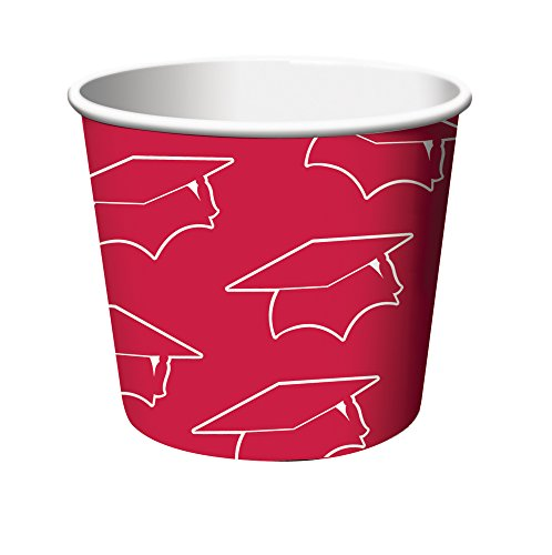 Creative Converting 6 Count Graduation Treat Cups, Red