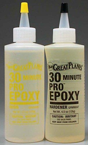 Great Planes Pro Epoxy 30-Minute Formula 9 oz GPMR6047 (2 Part Epoxy Resin compare prices)