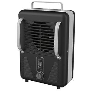DeLonghi DUH500 Safeheat 1500W Portable Utility Heater - Black