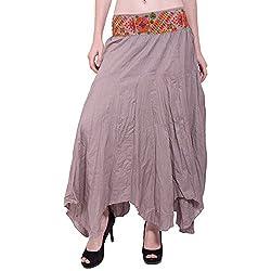TUNTUK Women's Karma Skirt Gray Cotton Skirt