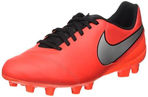 Nike Jr Tiempo Legend Vi Fg Scarpe da calcio allenamento, Unisex bambini, Multicolore (Naranja / Plateado / Rojo (Lt Crmsn / Mtllc Slvr-Ttl Crmsn)), 36