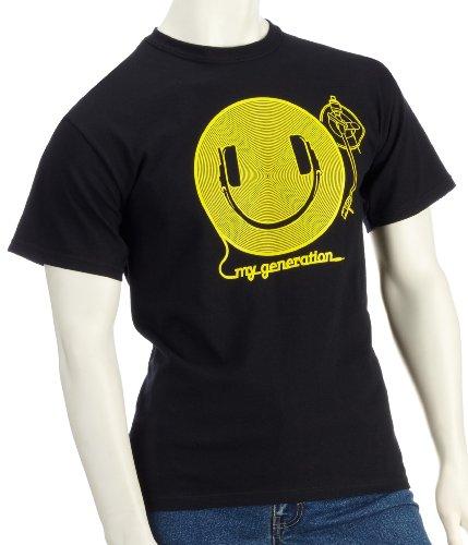 DMC Technics Happy Generation Black Mens T-Shirt XX-Large