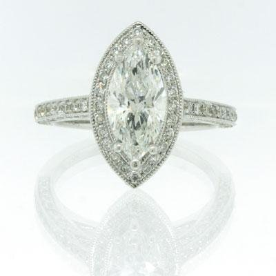 2.40ct Marquise Cut Diamond Engagement Anniversary