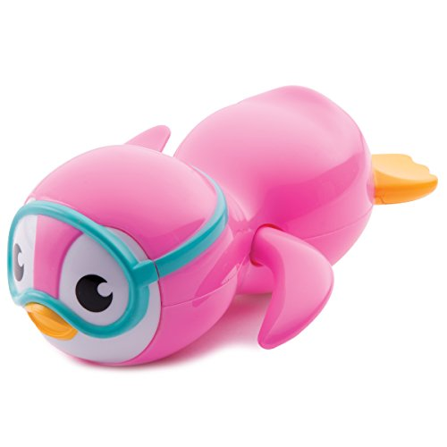 Munchkin-Wind-Up-Swimming-Penguin-Bath-Toy-Pink