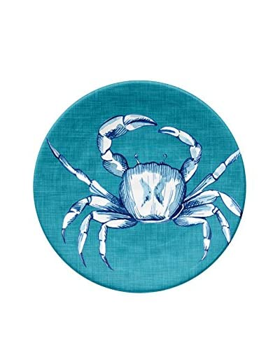 Oceanside Crab Melamine Appetizer Plate, Multi