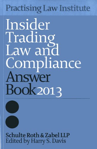 Insider Trading Answer Book 2013