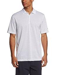 Nike Golf Dri-Fit Victory Stripe Polo, White/Black, X-Large