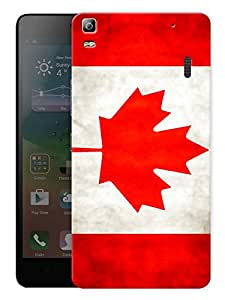 "Humor Gang Canada Flag - Maple Leaf Printed Designer Mobile Back Cover For ""Lenovo A7000 - A7000 Plus - A7000 Turbo"" (3D, Matte, Premium Quality Snap On Case)"