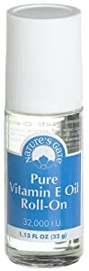 Nature's Gate Pure Vitamin E Oil Roll-On, 1.1-Ounce Bottles (Pack of 3)