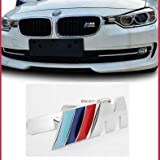 B037 Car Styling Accessories Chromed Emblem Badge Decal Sticker M Front Grille Blue For BMW X1 X3 X5 X6 M3 M5 E46 E39 E36 E60 E34 E90 E65 E70 E53 E87