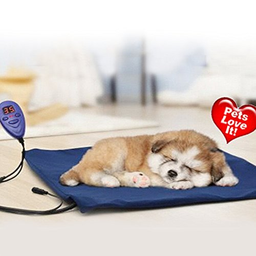Heating Pads for pets, Electric Heating Pad for Dogs &Cats Warming Dog Beds Pet Mat Pressure Activated with Chew Resistant Cord Soft Removable Cover(Large)