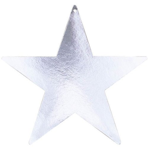 "Amscan Girls Fun Bulk Foil Star Party Cutouts, 15"", Iridescent"