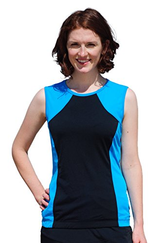 Hydrochic women s modest tank top sleeveless upf 50 rash for Womens rash guard shirts