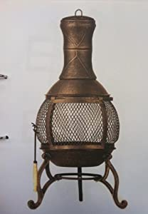 Small Cast Iron Chimenea BBQ