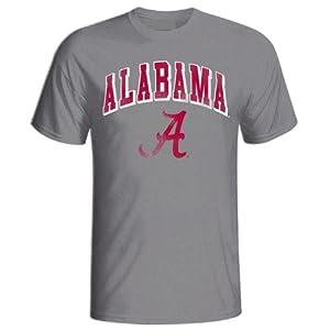 Buy Alabama Crimson Tide Vintage T Shirt Gray by Elite Fan Shop
