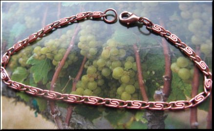Solid Copper 7 Inch Ladies Bracelet Cb001