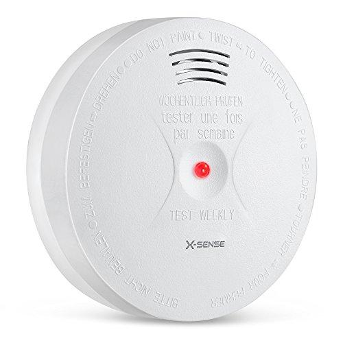 X-Sense Pile Allarme di Fumo + CO Domestico, Rilevatore di Monossido di Carbonio & Allarme di Fuoco con Sensore Fotoelettrico; Reset Automatico SC05A