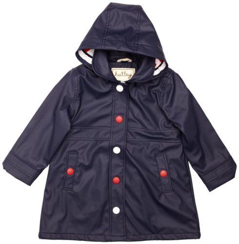 Hatley Big Girls' Splash Jacket, Navy, 10 front-209013