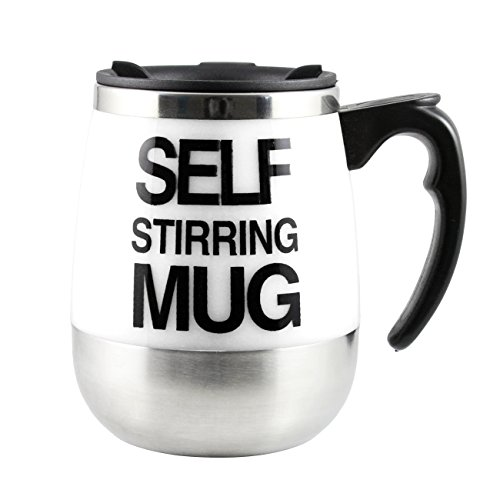 Tera 450Ml Hot Stainless Plain Lazy Self Stirring Electric Mug Auto Mixing Tea Coffee Cup Office Home Gift Novelty