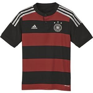 adidas Kinder Heimtrikot Deutschland Away 2014/2015, Schwarz/Rot, 176, 065034469