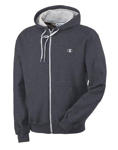 Champion Eco Fleece Full Zip Hood Dark Grey Xxl