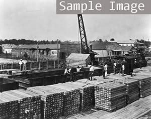 1920 Loading cross ties with Brown hoist on yard, Lamb-Fish Lumber Co., Charl f4