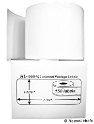 25 Rolls; 150 Labels per Roll of DYMO-Compatible 99019 1-Part Internet Postage Labels (2-5/16\