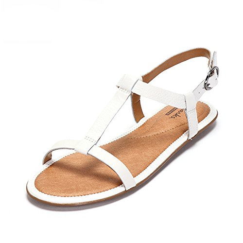 Clarks Risi Hop, Damen Slingback Sandalen, Weiß