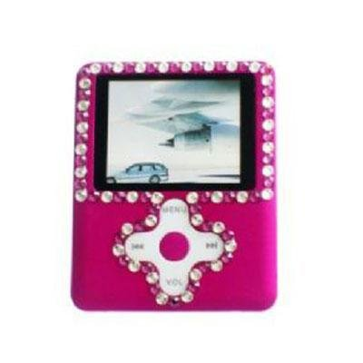 Isonic 2 GB MP3-4 and Video Player with 1.8-Inch LCD, Swarovski Crystals