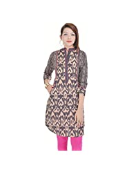 Beautiful -Grey-Cotton-Kurti-From The House Of -A B Marketing