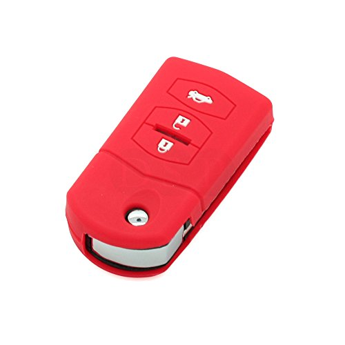 fassport-silicone-cover-skin-jacket-fit-for-mazda-3-button-flip-remote-key-cv3531-red