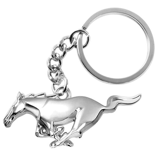 Ford Mustang 3D Pony Chrome Metal Key Chain